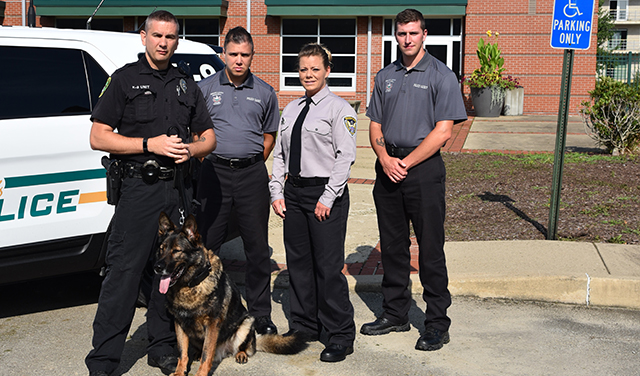 Police Academy cadets with K9 and instructor