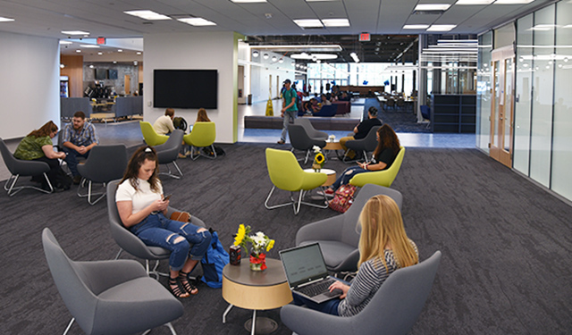 Inside the Student Achievement Center, Youngwood