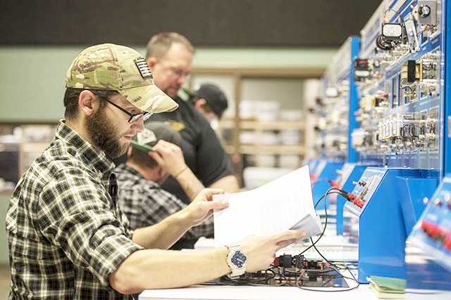 Student working hands-on at Advanced Technology Center