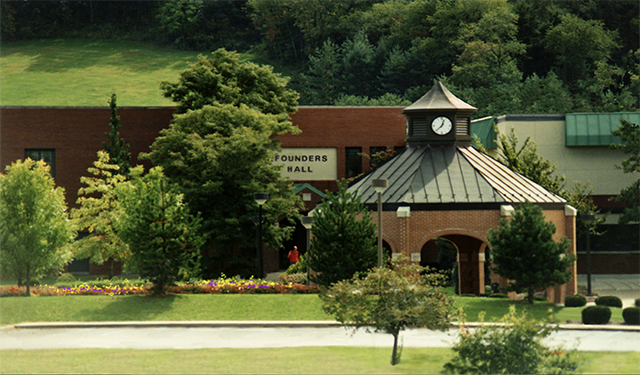 Founders Hall and the pavilion, late 1990s.