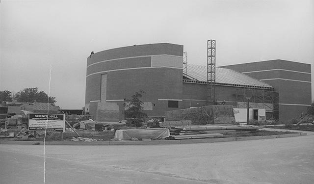 The construction of Science Hall.