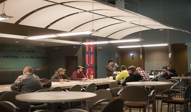 The Hub is a gathering space for students.