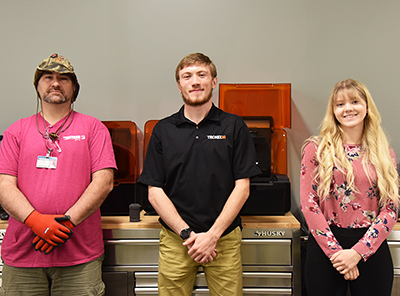Students in the fall 2020 Additive Manufacturing program