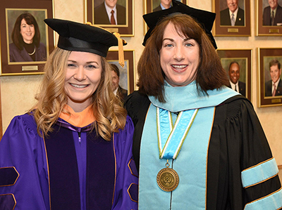 Melinda Rossell and Westmoreland President Dr. Tuesday Stanley