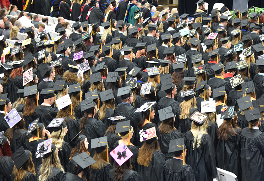 The class of 2019 at Commencement