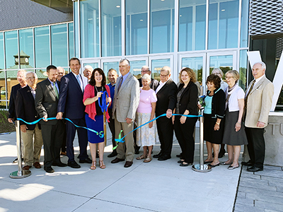 Ribbon cutting at Student Achievement Center on September 27, 2019