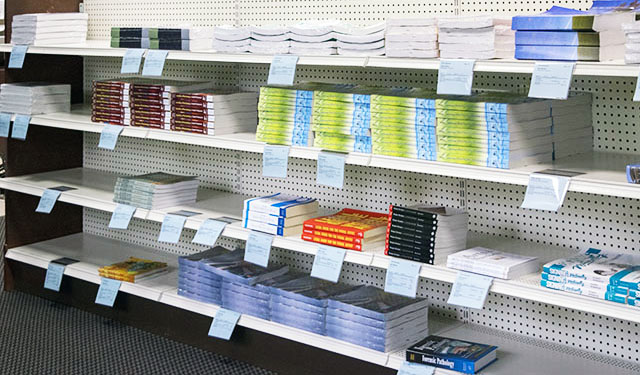 Books for sale at bookstore