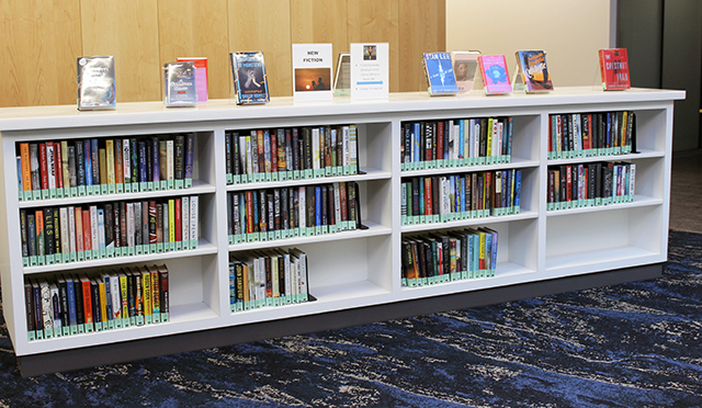 Library books at the Student Achievement Center